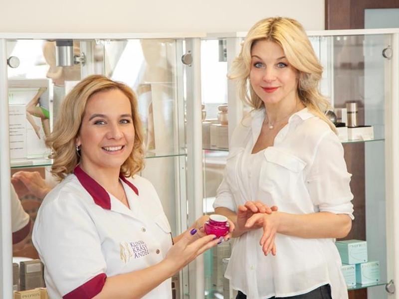 Sabina Laurinová na kosmetice