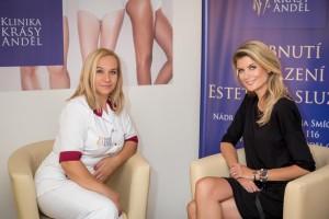 Iveta Lutovská na Klinice krásy Anděl