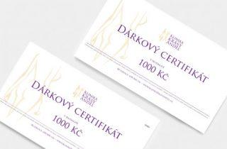 Dárkový certifikát na kosmetiku